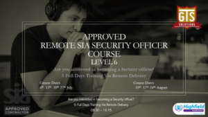 Approved Remote SIA Security Officer Course